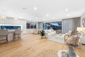 A contemporary living room