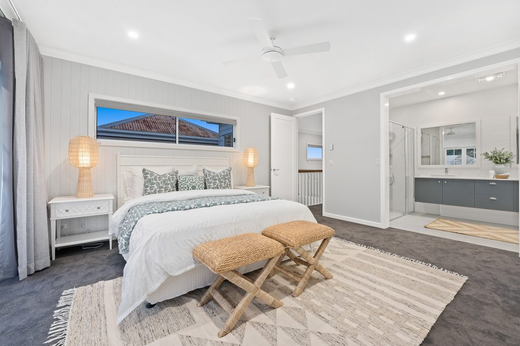 A stylish contemporary bedroom - contemporary charm blog featured image.