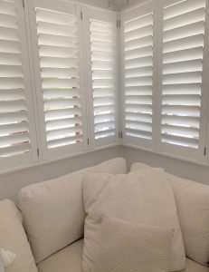 Davina Rankin's new shutters installed