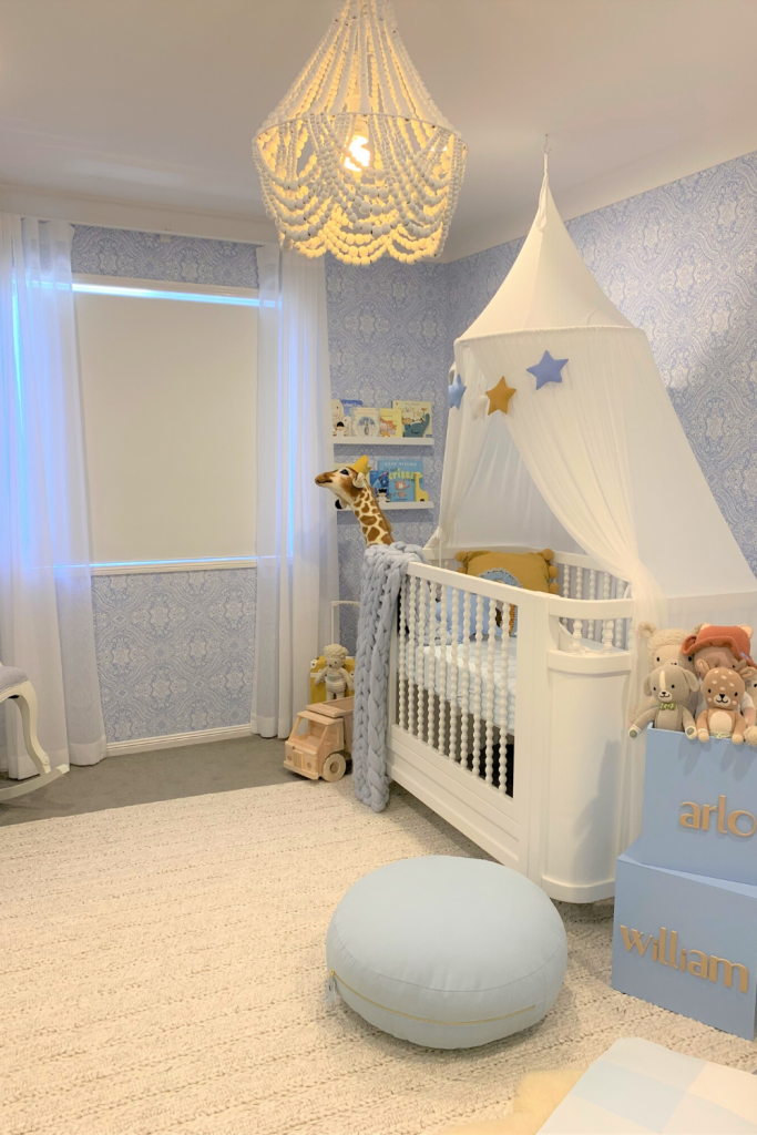 A nursery with blinds and curtains - Nursery Blinds Blog Featured Image