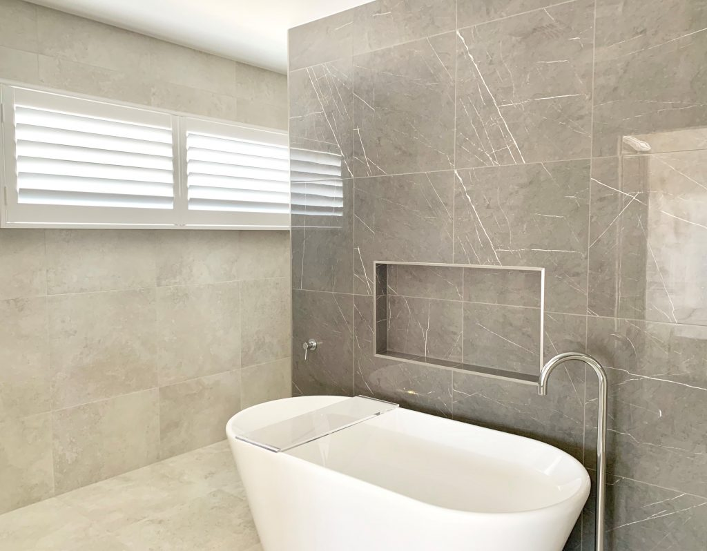 Shutters in a Modern Bathroom - Why Interior Designers Love Shutters Blog Featured Image