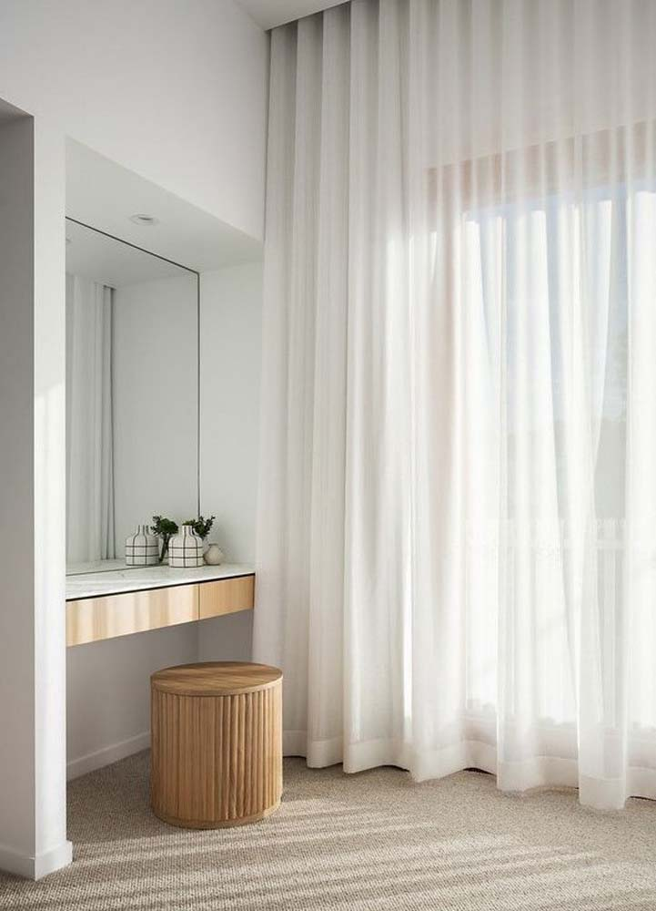 Curtains in a Powder Room