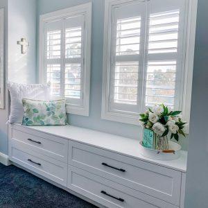 Window Shutters in a Day Room